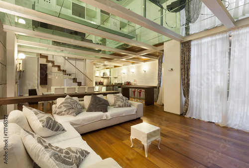 canvas print picture Interior, wide loft