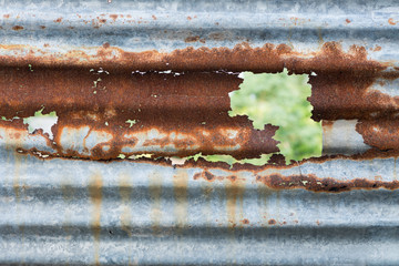 Rust on galvanized sheet