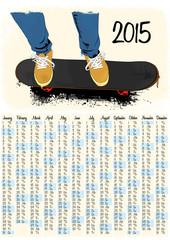 2015 skateboarding calendar