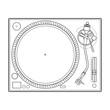 vector outline vinyl dj turntable - 71767314