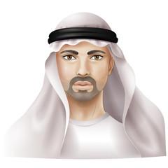 Man dressed in keffiyeh