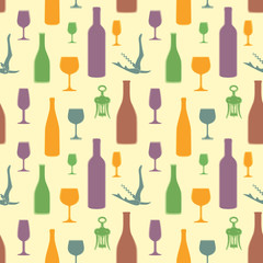 vector abstract wine seamless pattern