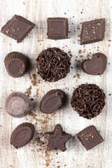 Homemade chocolate candies