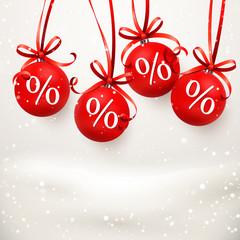 Verschneite Weihnachtskugeln - Prozente