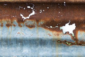 Rust on galvanized sheet