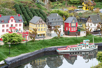 Lego old German Town Town with ship