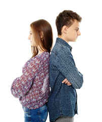 Upset teens back to back