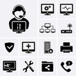 Computer technician icons. - 71768500