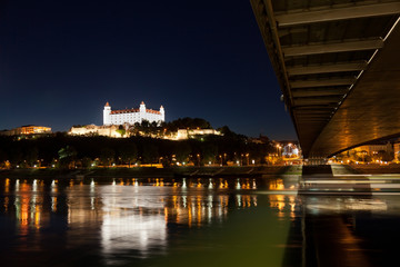 View of a medieval castle in Bratislava