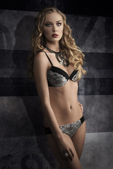 charming female with lingerie