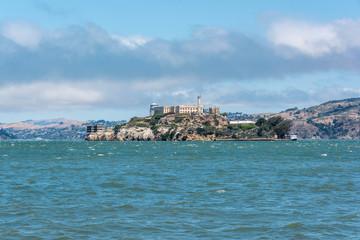 Alcatraz view from the bay of San Francisco