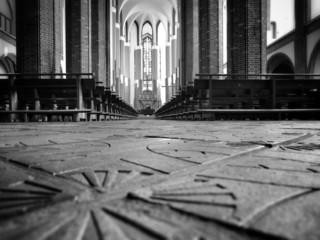 Catholic Cathedral Interior.
