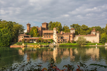 The Medieval castle on the Po river, Turin