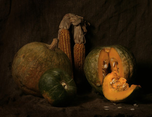 Rustic autumn still life