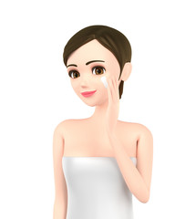 Skin care image of a beautiful woman