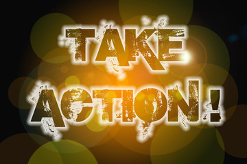 Take Action Concept