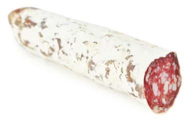 Italian salami  isolated on white
