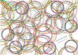 Fototapeta color vector bright circles background