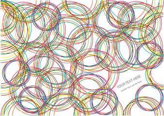 color vector bright circles background