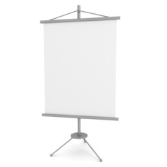 blank advertising banner stand on white background