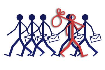 Employment and unemployment - concept image