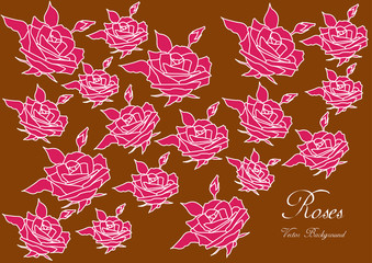 vintage vector roses background