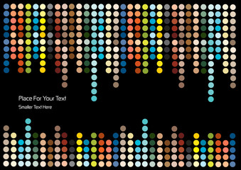 color vector dots background