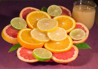 Grapefruit Orange Lime Lemon Juice