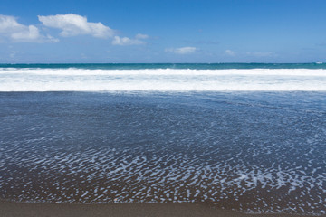 plage de sable noir, l'Etang-Salé-les-Bains, Réunion