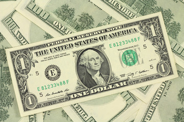 one new American dollar background