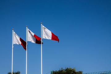 Bandiere Maltesi al Vento