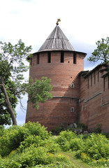Kremlin wall and tower, Russia, Nizny Novgorod