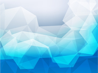 blue abstract background with space