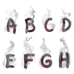 English  smoking alphabet
