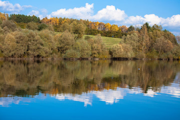 Water reflection - lake Liptovska Mara, Slovakia