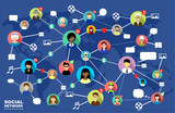 Social Networks. Internet communication. vector