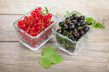 Fresh ripe currant berries