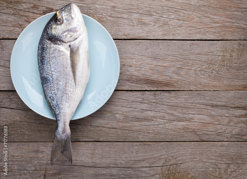 canvas print picture Fresh dorado fish