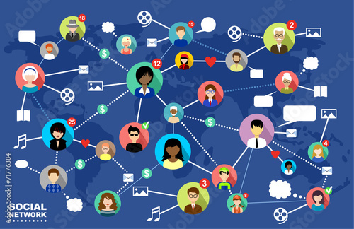 Social Networks. Internet communication. vector - 71776384