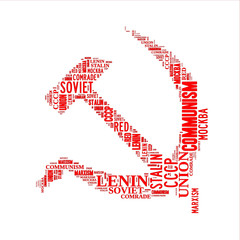 Hammer and sickle word cloud