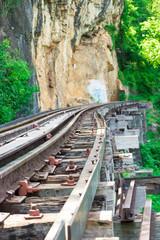Railway at Kanchanaburi, Thailand