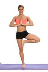 Young African American Woman Practicing Yoga