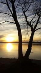 Sonnenuntergang über dem Ammersee