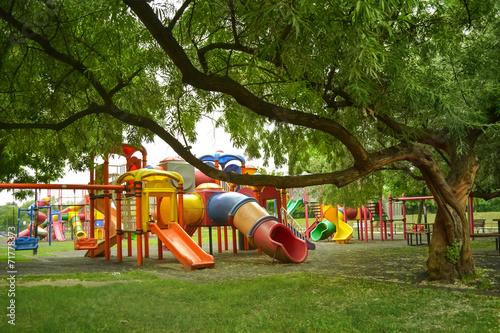 Leinwanddruck Bild playground