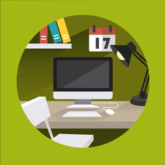 table_office_vector_green
