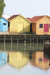 cabanes ostréicoles,le chateau d'oléron,île d'oléron