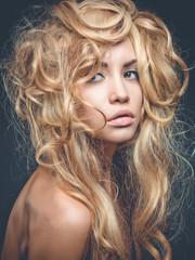 Beautiful blond woman portrait