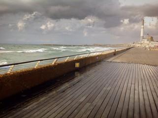 storm in Tel Aviv