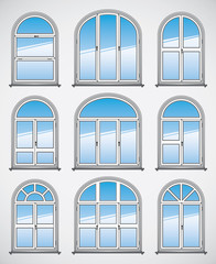 Vector Rounded Windows