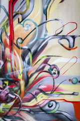 Mur de graffiti formes contemporaines